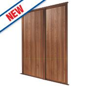 Spacepro 2 Door Panel Sliding Wardrobe Doors Walnut 1803 x 2260mm