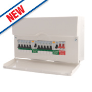 BG 10-Way Dual RCD Metal Consumer Unit & 10 MCBs