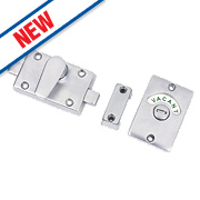 Smith and Locke Bathroom Indicator Bolt Satin Chrome