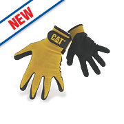 Cat 17416 Nitrile-Coated Gloves Yellow Large