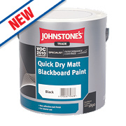 Johnstones Matt Blackboard Paint Black 2.5Ltr