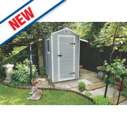 Keter Manor Plastic Shed 4' x 6' x 6' 6
