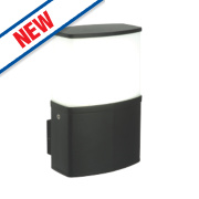 Saxby Tiesto Black LED Wall Light 10W