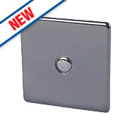 Crabtree 1-Gang 400W Touch Dimmer Black Nickel