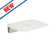 Mira Premium Shower Seat White / Chrome 450mm
