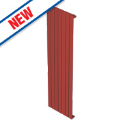 Moretti Modena Single Panel Vertical Designer Radiator Red 1800 x 433mm