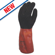 Skytec Xenon Cut 1 Gauntlets Red/Black Large