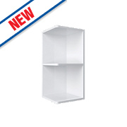 Matt White Slab Kitchen Open End Wall Unit 300 x 282 x 738mm