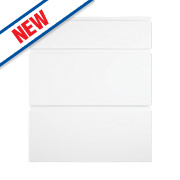 Pan 3-Drawer Fronts White Gloss Handleless 496 x 732mm