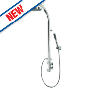Triton Felice Shower Pole Thermostatic Mixer with Diverter Exposed Chrome