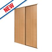 Spacepro 2 Door Panel Sliding Wardrobe Doors Beech 1499 x 2260mm