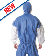 3M 4535 Type 5/6 Disposable Coverall Blue/White Lge/X Lge 42-46
