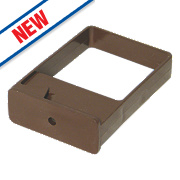 FloPlast Square Downpipe Clips Single Fix Brown 102mm Pack of 10
