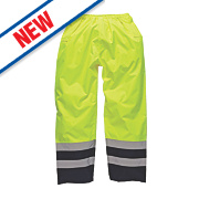 "Dickies SA1003 Hi-Vis 2-Tone Safety Trousers Saturn Yellow/Navy 40"" W 30"" L"