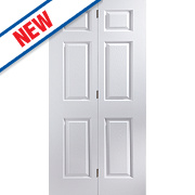 Jeld-Wen Bostonian 6-Panel Interior Bi-Fold Door Primed 1950 x 750mm