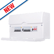 BG 13-Way Dual RCD Metal Consumer Unit & 10 MCBs