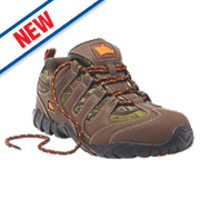 Hyena Dune Safety Trainers Brown Size 10