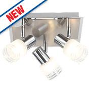 Brilliant Lea 3-Light LED Spotlight Satin Chrome 675Lm 5W
