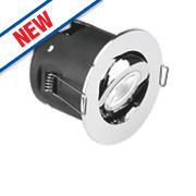 Aurora Fire Rated Adjustable LED Downlight IP20 Polished Chrome 4.9W
