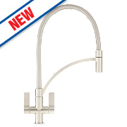 Franke Wave Pull-Out Mono Mixer Kitchen Tap Brushed Steel