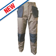 JCB TradeMaster Work Trousers Sand/Black 34