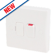Schneider Slimline 13A Switched Fused Connection Unit + Flex Outlet White