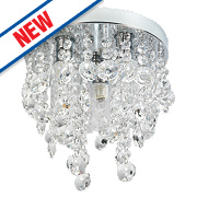 Spa Cygnus 3-Light Bathroom Ceiling Light Chrome G9 25W