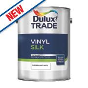 Dulux Trade Silk Emulsion Paint Pure Brilliant White 5Ltr