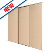 Spacepro 3 Door Panel Sliding Wardrobe Doors Maple 1780 x 2260mm