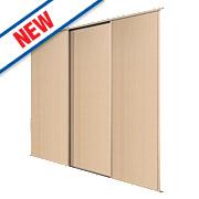 Spacepro 3 Door Panel Sliding Wardrobe Doors Maple 1780 x 2260mm