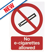 """No E-Cigarettes Allowed"" Sign 210 x 180mm"