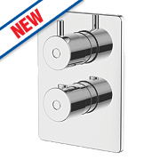 Swirl Ola Built-In Shower Valve & Diverter Fixed Chrome
