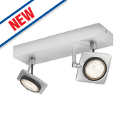 Philips Millennium 2-Light LED Ceiling Spotlight Aluminium