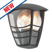 Zinc Perdita Black Half Wall Lantern 60W