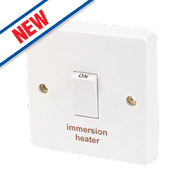 Crabtree 20A 1G Immersion Heater Switch White Pack of 10