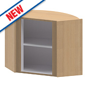 Oak Kitchen L Corner Wall Cabinet 625 x 625 x 738mm