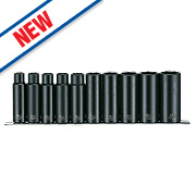 "Teng Tools ½"" Deep Impact Socket Set 10 Pieces"