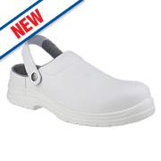 Amblers FS512 Sandal Safety Shoes White Size 8
