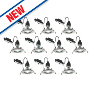 LAP Fixed LED Downlight Contractor Pack Brushed Chrome 240V Pk10
