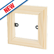 Varilight 1-Gang Light Switch Frame Surround Unfinished