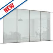 Spacepro 4 Door Framed Glass Sliding Wardrobe Doors White 2998 x 2260mm