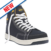 Site Norite Hi-Top Safety Trainers Black Size 9