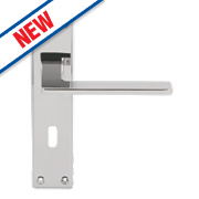 Serozzetta Zone LoB Lock Door Handles Pair Polished Chrome