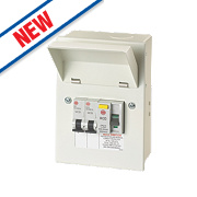 Wylex 2-Way Metal Garage Consumer Unit 40A 30mA RCD
