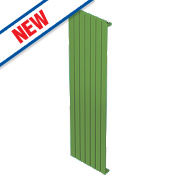 Moretti Modena Single Panel Vertical Designer Radiator Green 1800x433mm