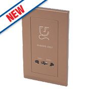 Retrotouch Simplicity 2G Dual Voltage Shaver Socket 115/240V Bronze