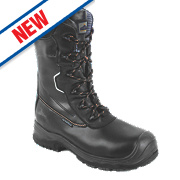 "Composite Lite 10"" Safety Boots Black Size 8"