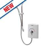 Gainsborough Stanza Electric Shower White / Chrome 8.5kW