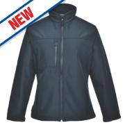 Portwest Charlotte Ladies Soft Shell Jacket Navy Medium