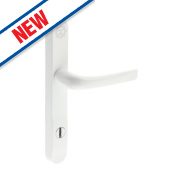 Mila High Security Type B Door Handle Pack Powder-Coated White
